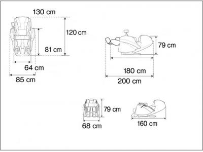 Массажное кресло EP-MA 100